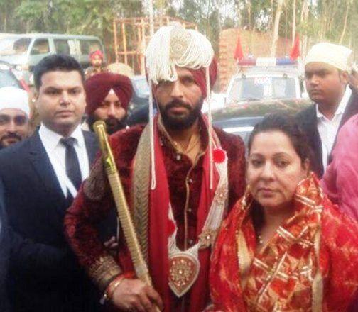 Yuvraj Singh arrived at the wedding day