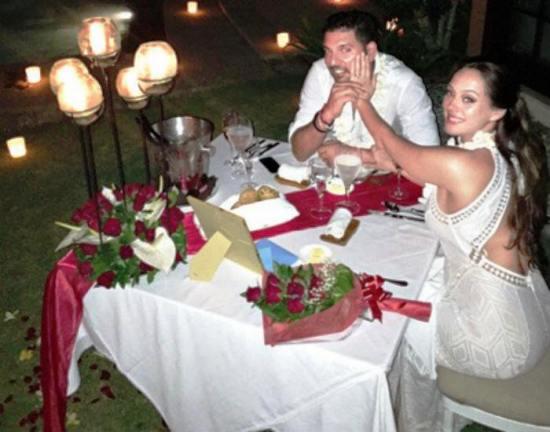 Yuvraj Singh Hazel Keech engagement in Bali