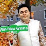 A. R. Rahman street in Canada