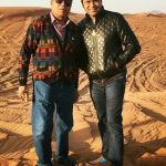 Aakash Chopra with his father