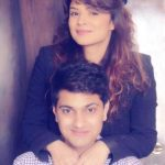 Aashka Goradia with her brother