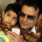 Abhimanyu Singh with his son