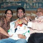 Abhinav Bindra with Parents