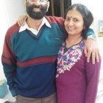 Aditi Sharma with her parents