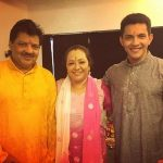 Aditya Narayan with his Parents