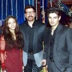 Aditya Pancholi with Sooraj and Sana
