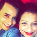 Aditya Singh Rajput with his mother