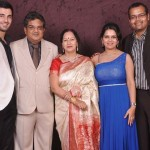 Aditya Seal with his parents, elder sister and brother-in-law Rohit Shrivastava