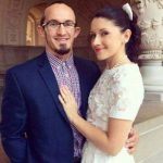 Adrian Neville with wife Natalie