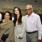 Aishwarya Rai with her parents