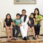 Akhilesh Yadav with his wife and children