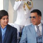 Akshay Kumar with his son