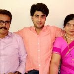 Akshay Mhatre with his parents