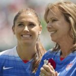 Alex Morgan with her mother