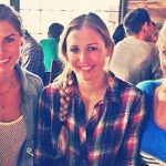 Alex Morgan with her two sisters