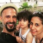 Ali Kazmi with his wife and son