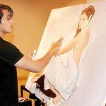 Ali Zafar painting