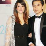 Ali Zafar with his wife