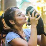 Alisha Abdullah, a dog lover