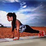 Alisha Abdullah doing push ups