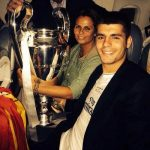 Alvaro with his mother Susana