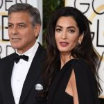 Amal Clooney with George Clooney