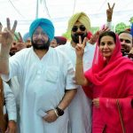 Amarinder Singh with his wife