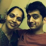 Amey Wagh with his mother