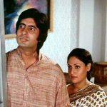 Amitabh Bachchan with Jaya Bachchan in Guddi