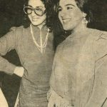 Amrita Singh with her mother