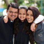 Devendra Fadnavis With Her Wife Amruta Fadnavis and Daughter Divija Fadnavis