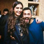 Anand Ahuja with his wife Sonam Kapoor
