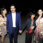 Ananya Birla with her parents and younger brother Aryaman Vikram