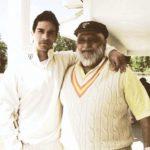 Angad Bedi with his father Bishan Singh Bedi