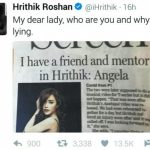Angela Krislinzki Hrithik Roshan controversy