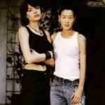 Angelina Jolie with Jenny Shimizu