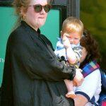 Adele ad her son Angelo James Konecki