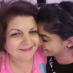 Anisha with her mother