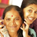 Anjali Patil with her mother
