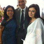 Anubha with her Parents