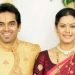 Anuja Sathe with her husband