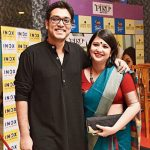 Anupam Roy with wife Piya Chakraborty