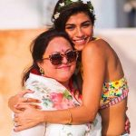 Archana Vijaya with her mother