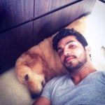 Arjun Bijlani with his dog