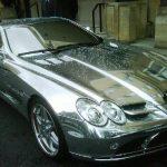 Arjun Rampal Mercedes SLR Mclaren chrome plated