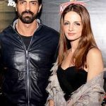 Arjun Rampal with Suzanne Khan