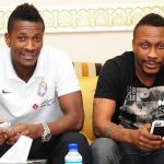 Asamoah Gyan with his brother Baffour Gyan