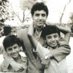 Ashish Kaul with his father and brother