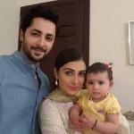 Ayeza Khann with her husband Danish and daughter Hoorain