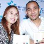 Ayu ting ting with her ex husband